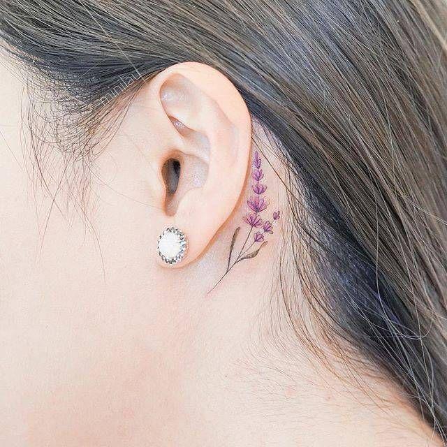 Behind The Ear Tattoo 56