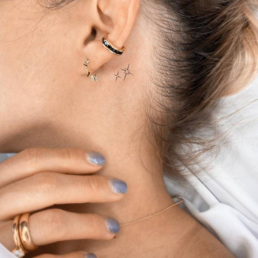 Behind The Ear Tattoo 59