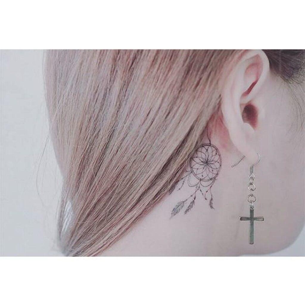 Behind The Ear Tattoo 61