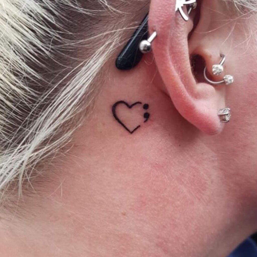 Behind The Ear Tattoo 62