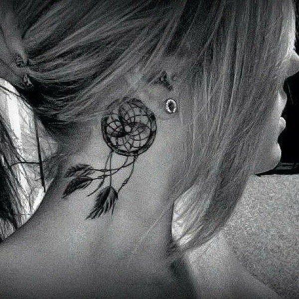 Behind The Ear Tattoo 64