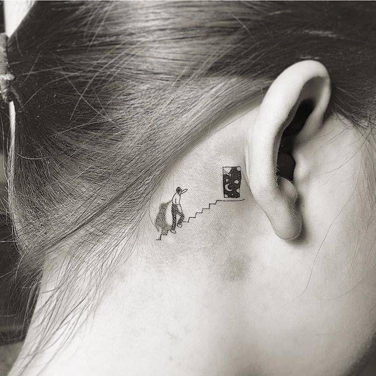 Behind The Ear Tattoo 65