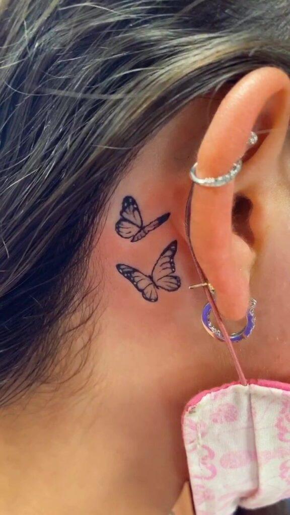 Behind The Ear Tattoo 67