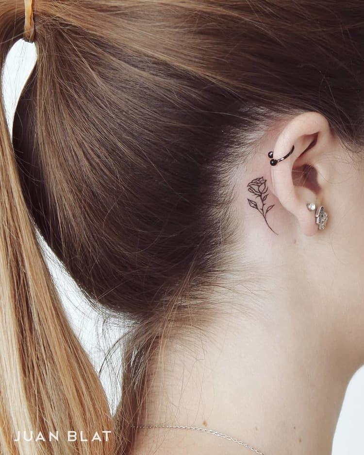 Behind The Ear Tattoo 68