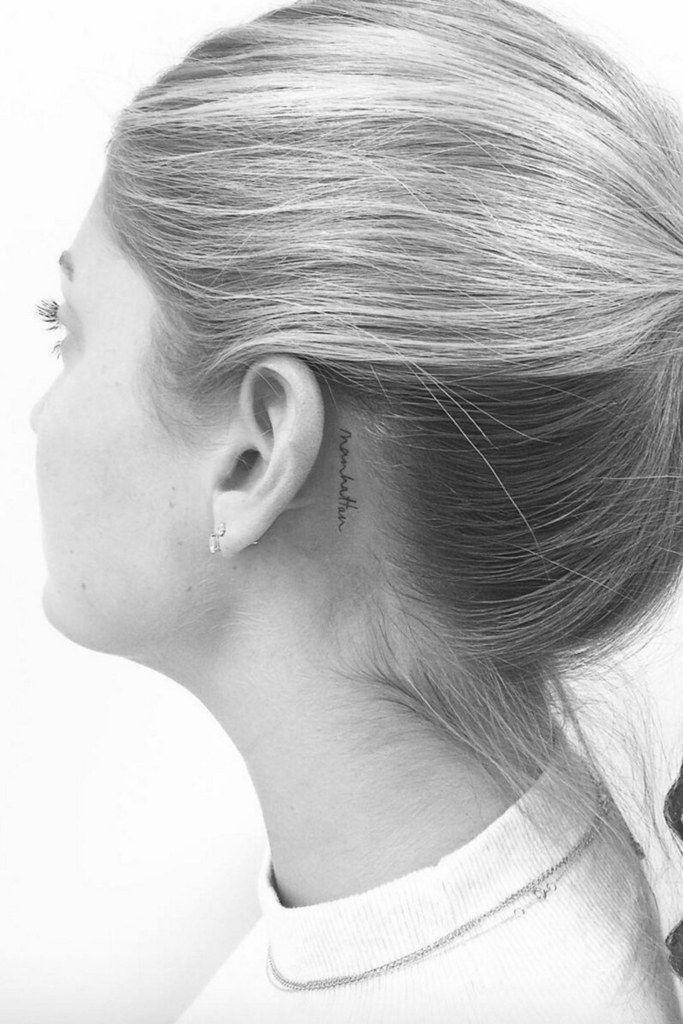 Behind The Ear Tattoo 70