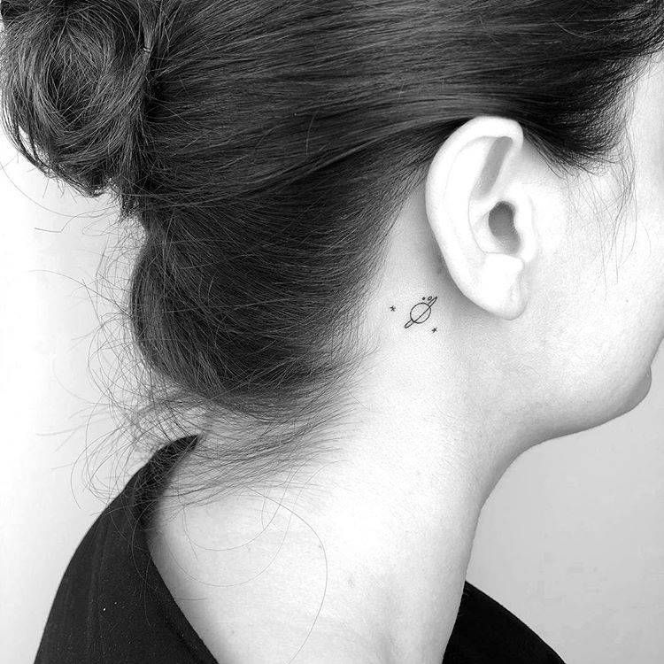 Behind The Ear Tattoo 71