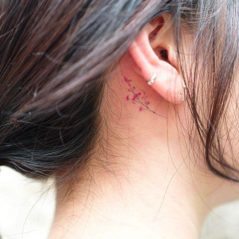 Behind The Ear Tattoo 72