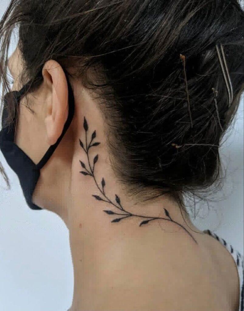 Behind The Ear Tattoo 74