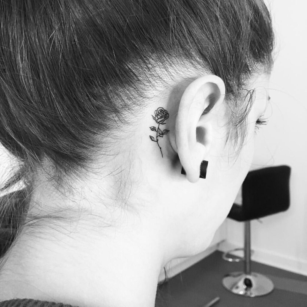 Behind The Ear Tattoo 78