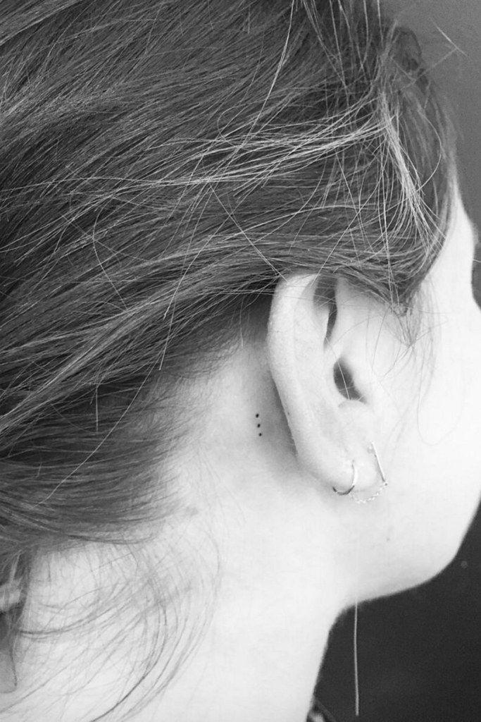Behind The Ear Tattoo 79