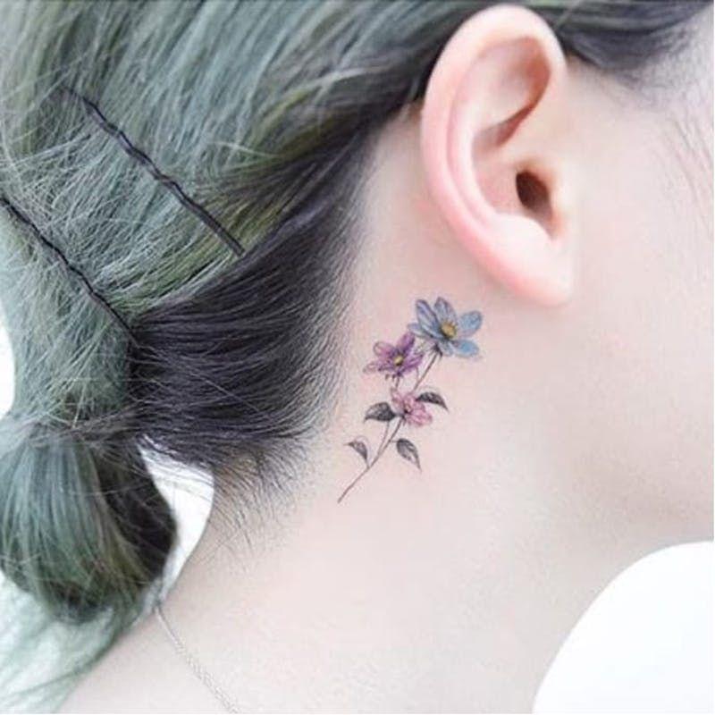 Behind The Ear Tattoo 8