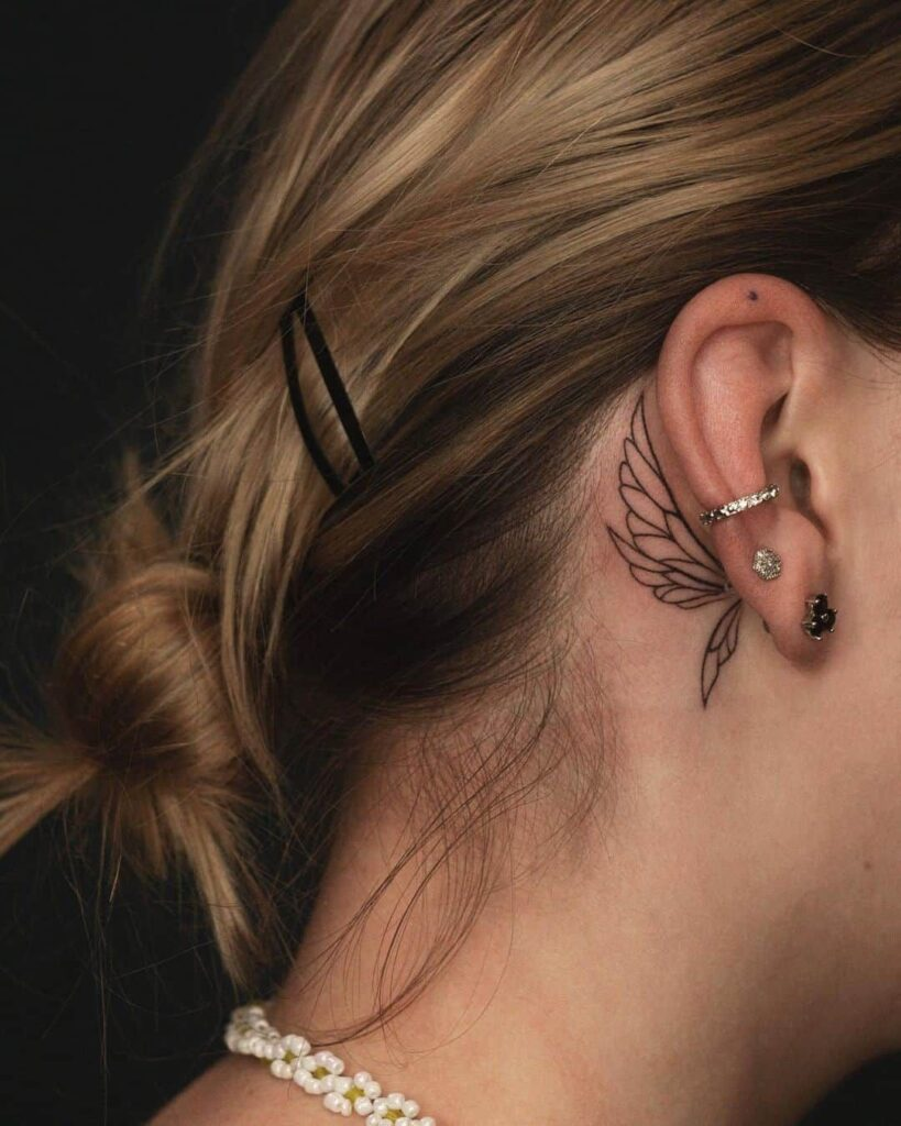 Behind The Ear Tattoo 80