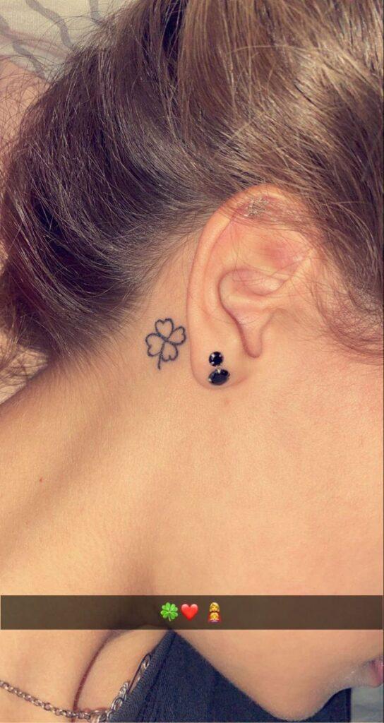 Behind The Ear Tattoo 84