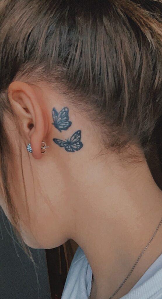 Behind The Ear Tattoo 88