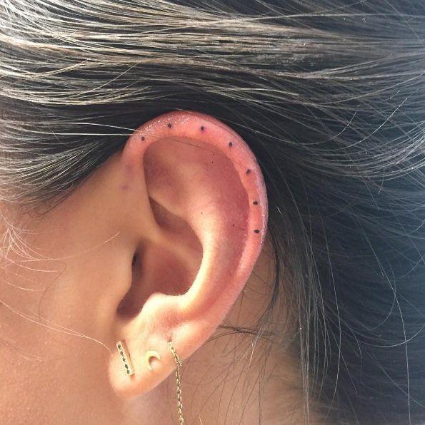 Behind The Ear Tattoo 9