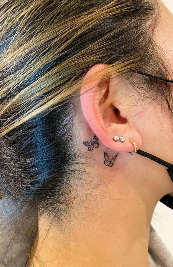 Behind The Ear Tattoo 91