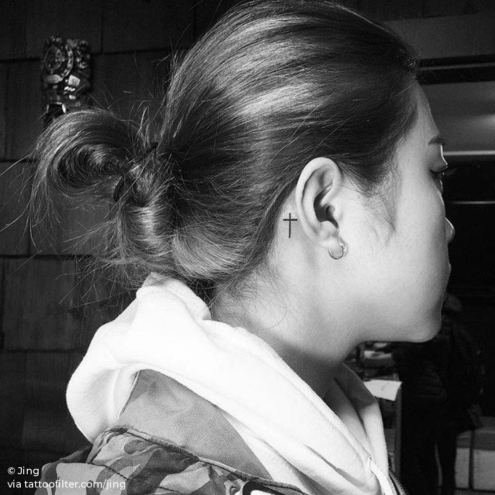 Behind The Ear Tattoo 92