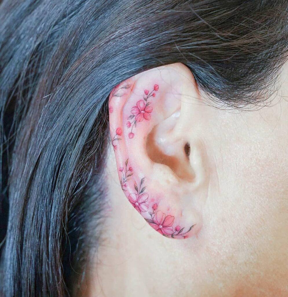 Behind The Ear Tattoo 99