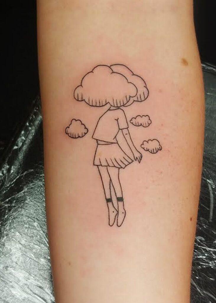 Cloud Tattoos 40