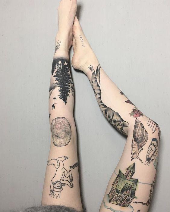 Knee Tattoos 107