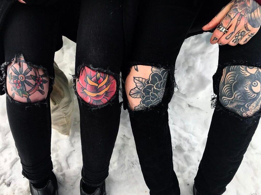 Knee Tattoos 111