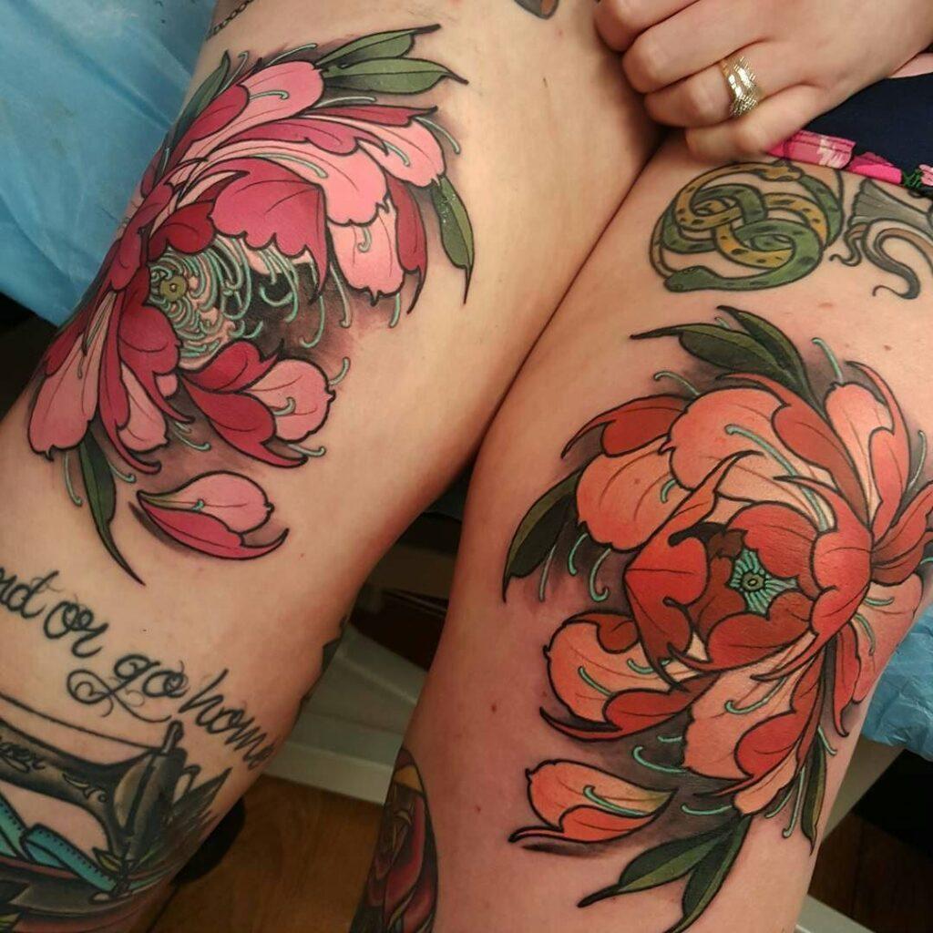 Knee Tattoos 128