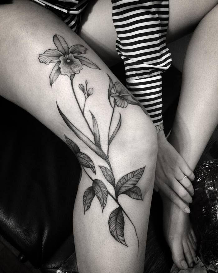 Knee Tattoos 13