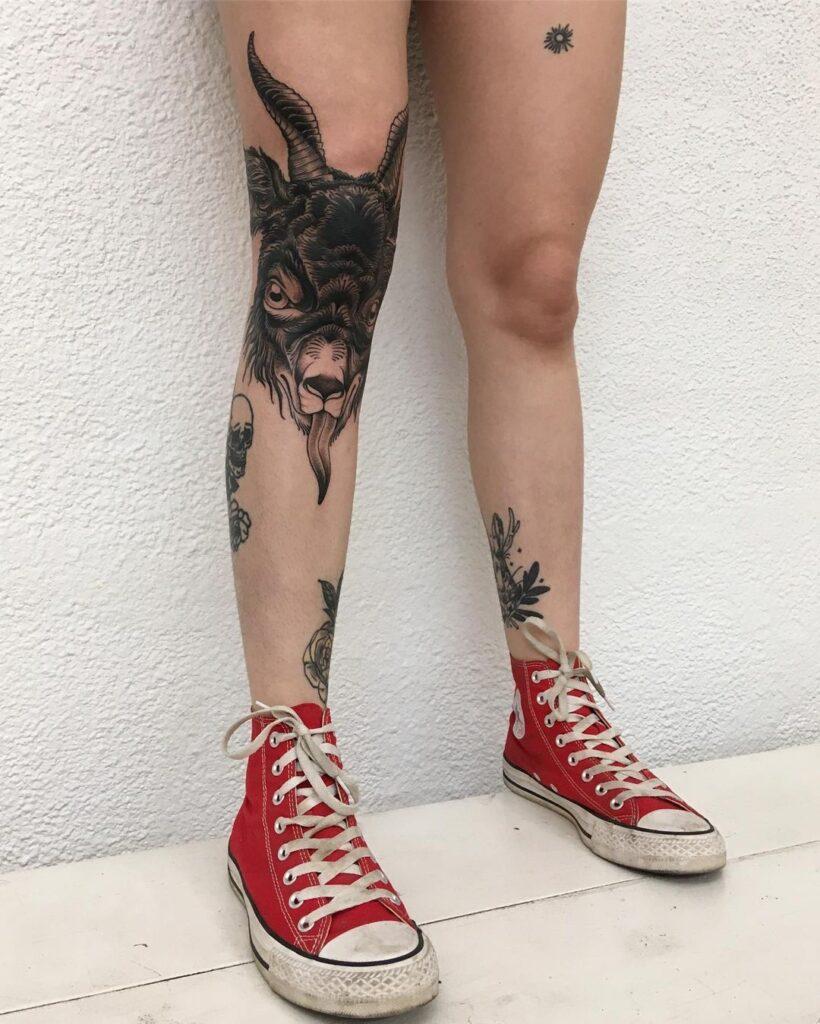 Knee Tattoos 155