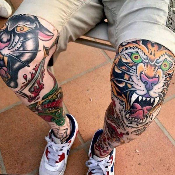 Knee Tattoos 163