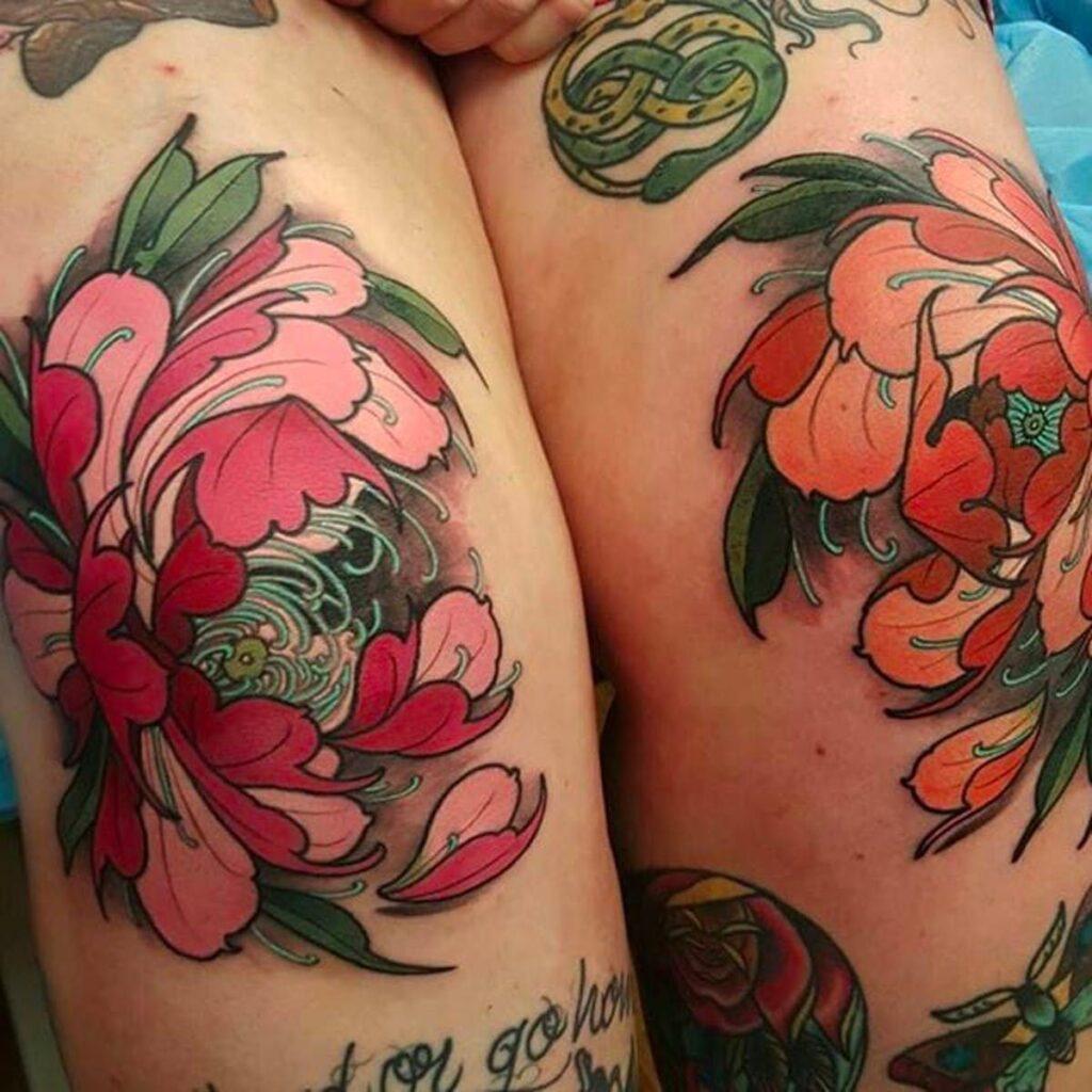 Knee Tattoos 179