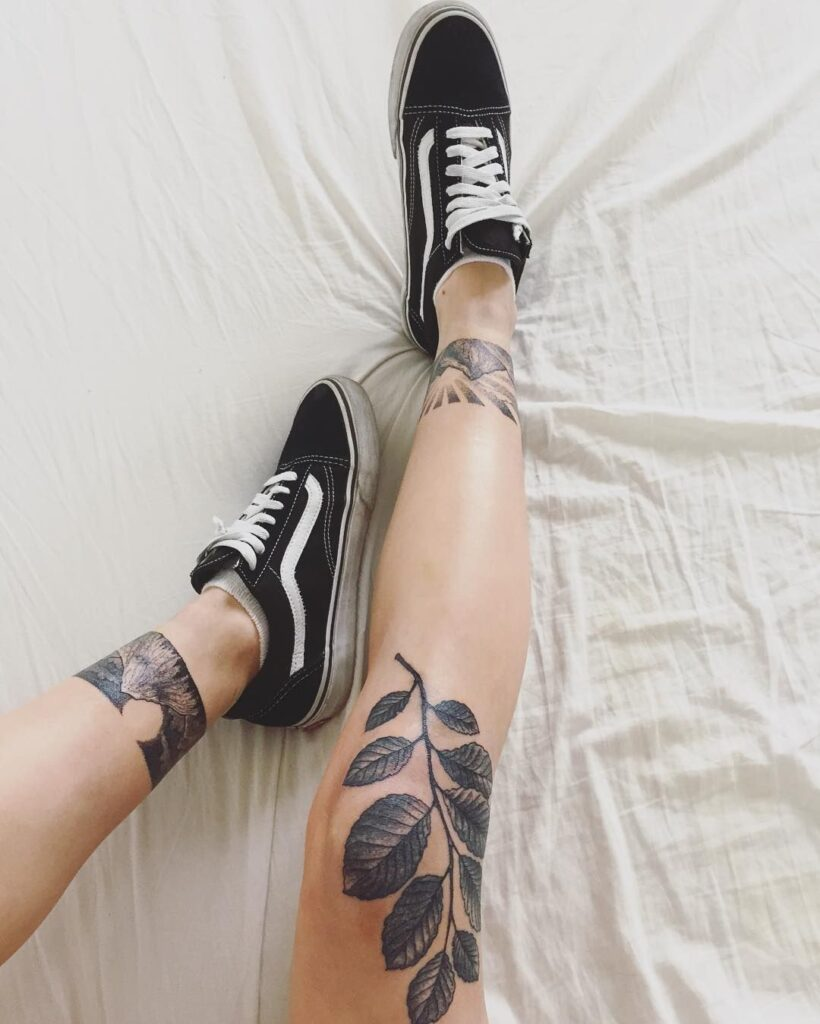Knee Tattoos 22