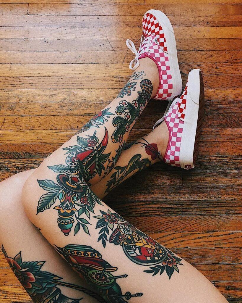 Knee Tattoos 31