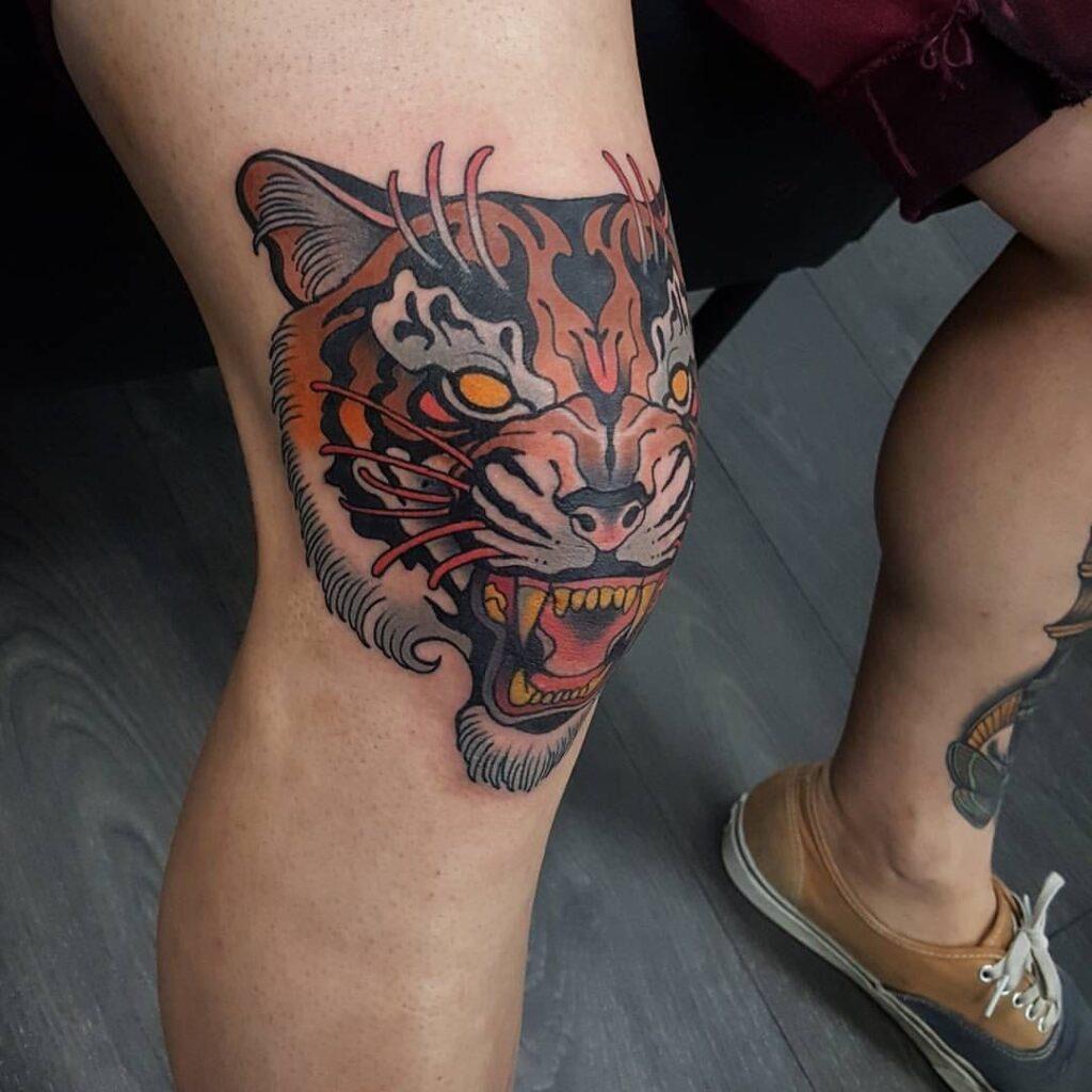 Knee Tattoos 34