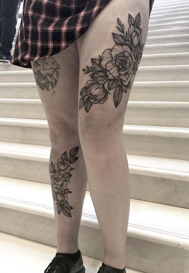 Knee Tattoos 42