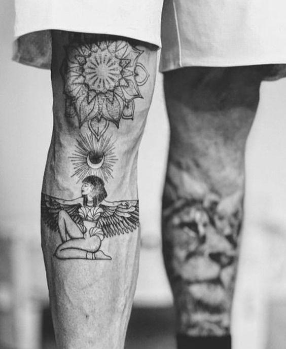 Knee Tattoos 44