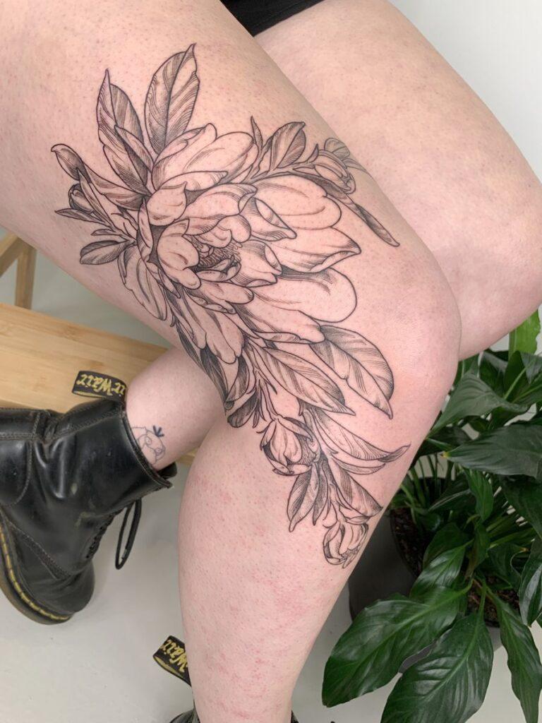 Knee Tattoos 49
