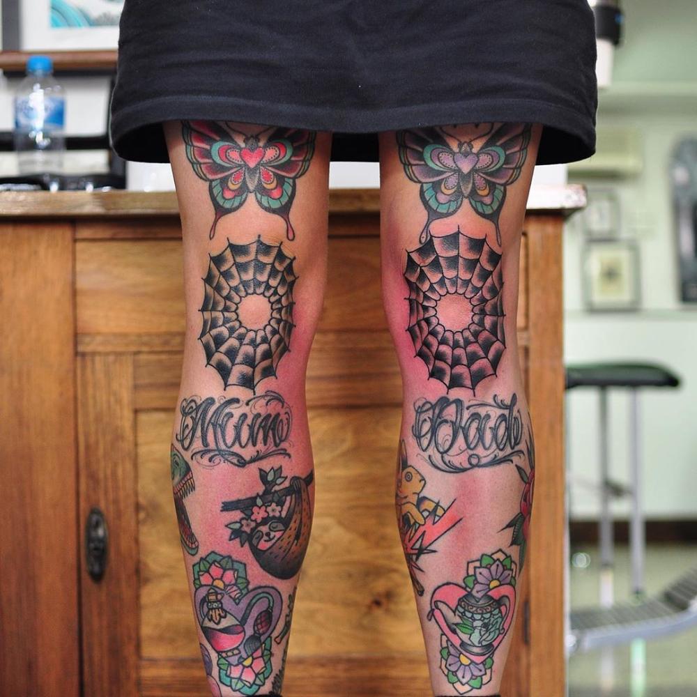 Knee Tattoos 5