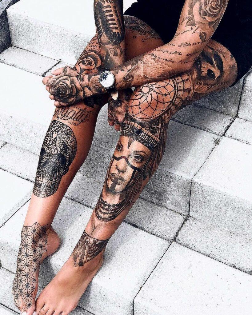 Knee Tattoos 70