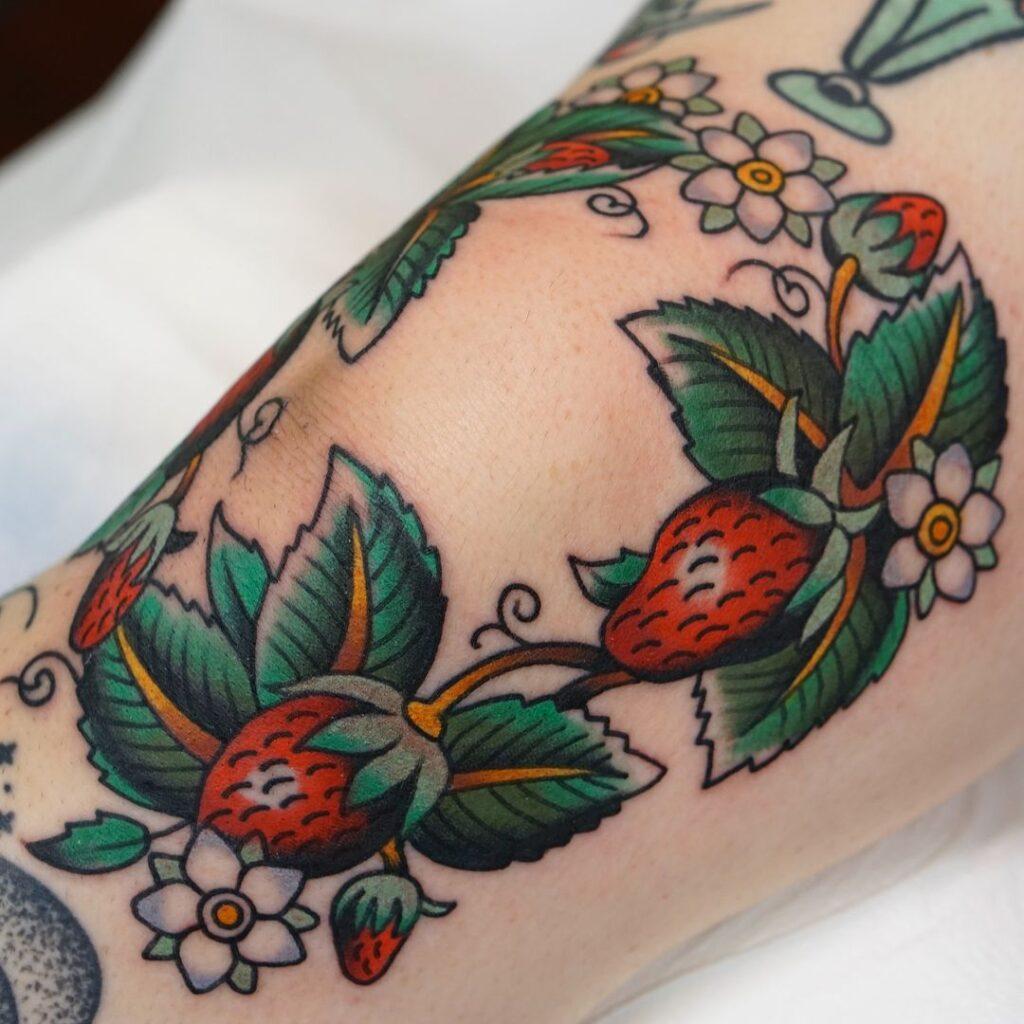 Knee Tattoos 71
