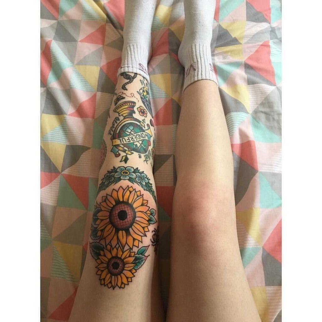 Knee Tattoos 76
