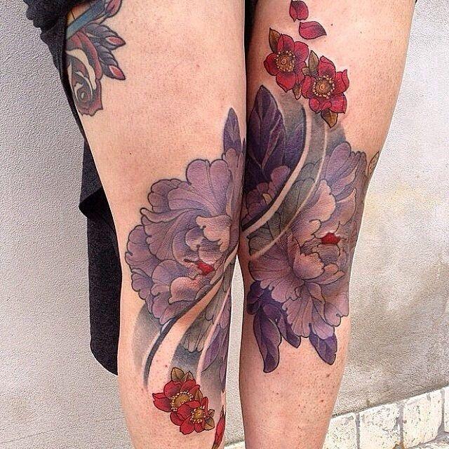 Knee Tattoos 89