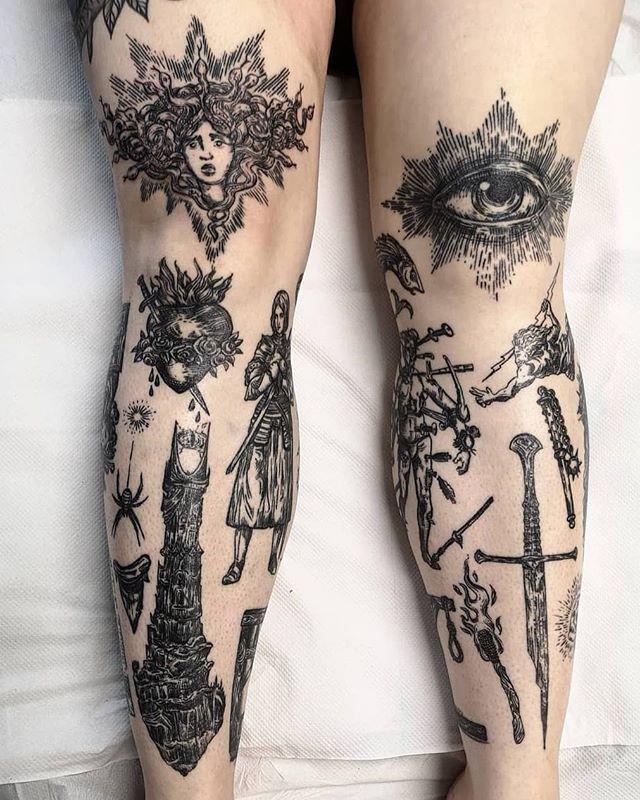 Knee Tattoos 9