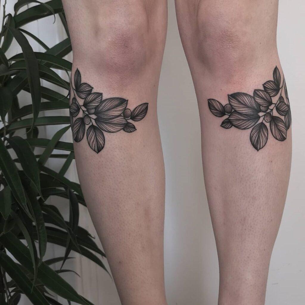 Knee Tattoos 91