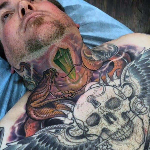 Throat Tattoos 111