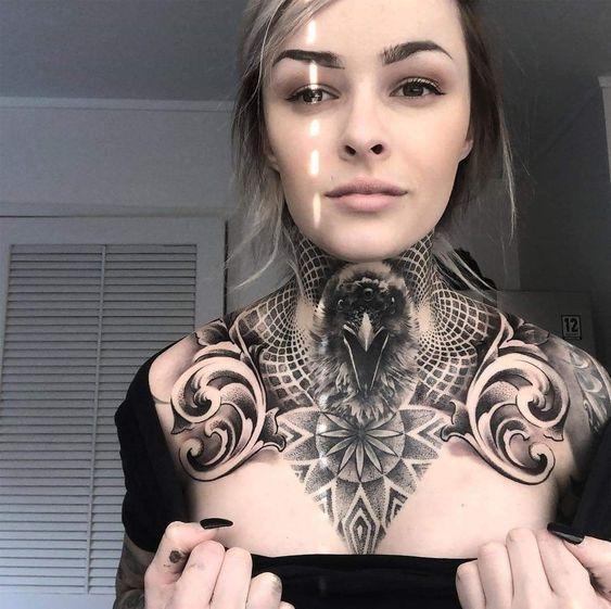 Throat Tattoos 15
