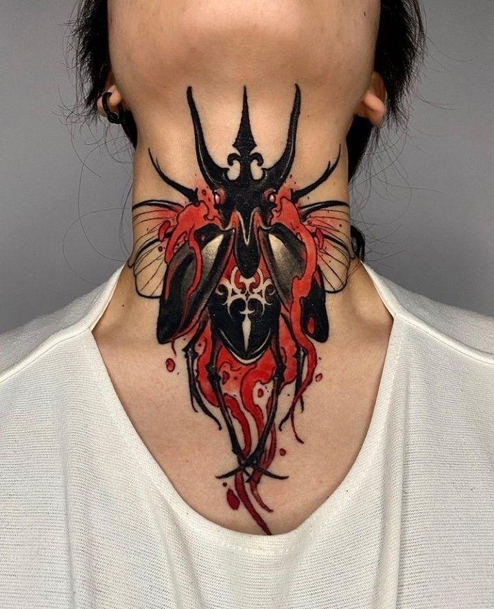 Throat Tattoos 21