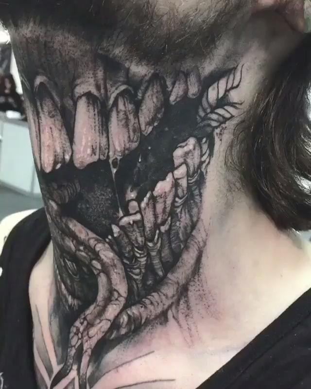Throat Tattoos 22