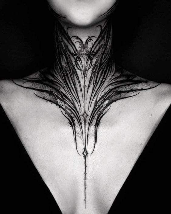 Throat Tattoos 23
