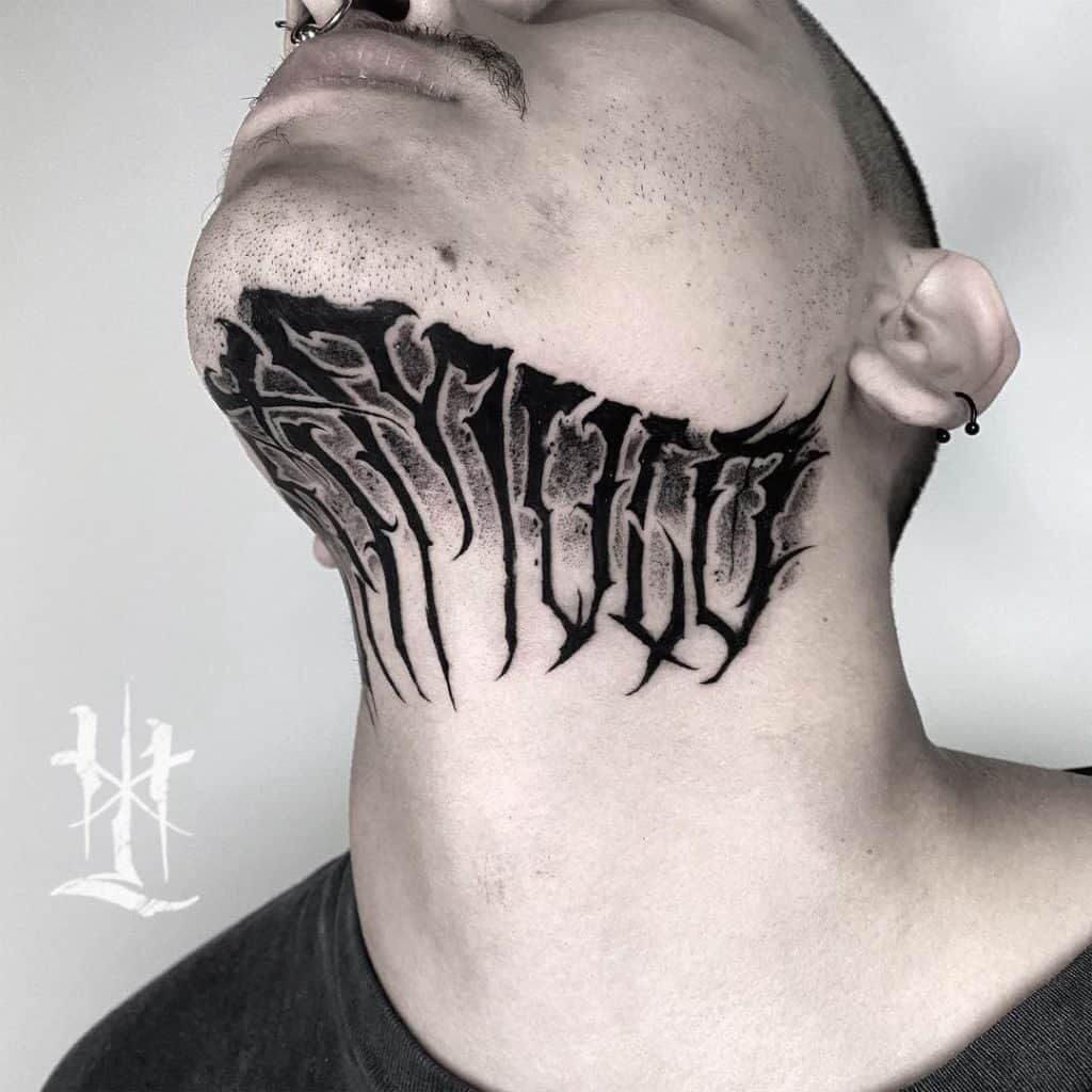 Throat Tattoos 32