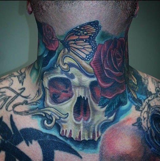 Throat Tattoos 46